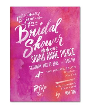 Artful Expression Shower Invitations
