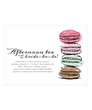 Tea & Macarons Bridal Shower Invitation