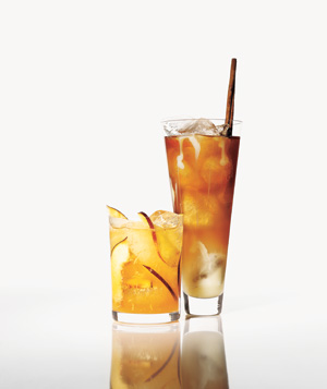 Creamy Iced Chai Tea and Gingery Peach Cooler