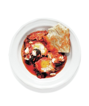 Shakshuka (Baked Eggs) With Kale