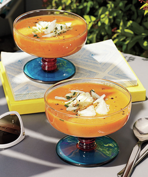 Cold Tomato Soup with Crab