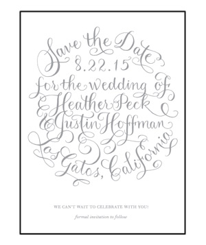 Letterpress Save the Date Cards: Simple Charms