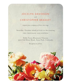 Breathtaking Blooms Wedding Invitations