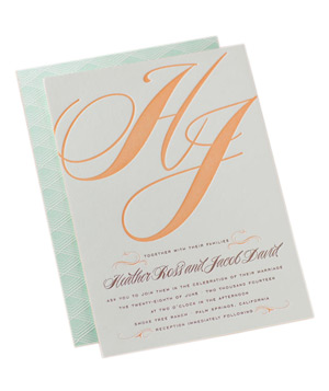 Dauphine Press Calistoga Wedding Invitations