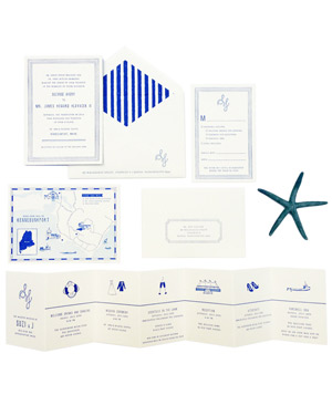 Mr. Boddington's Studio Miss Bigliani Wedding Invitations