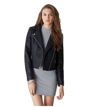 American Eagle Outfitters Vegan Leather Moto Jacket