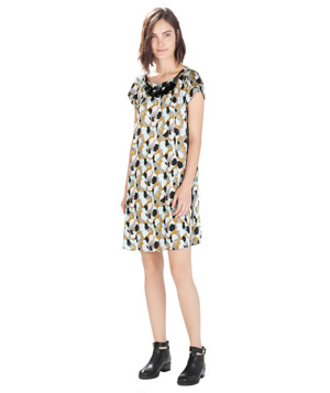 Zara Geometric Print Dress