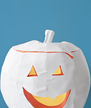Paper construction of a Jack-'O'-Lantern by Matthew Sporzynski