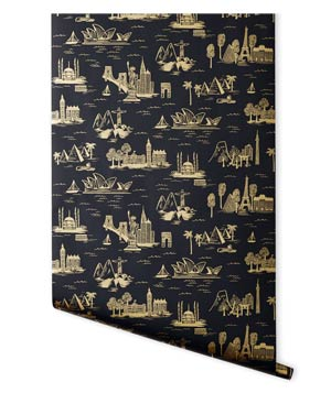 City Toile in Ebony