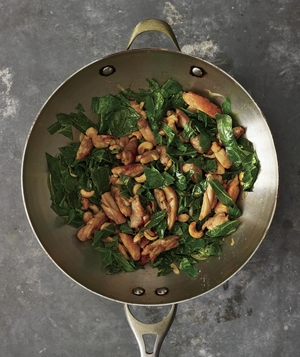 Boneless, Skinless Thighs: Cashew Chicken and Greens Stir-Fry