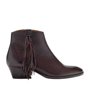 Massimo Dutti Fringed Cowboy Ankle Boots