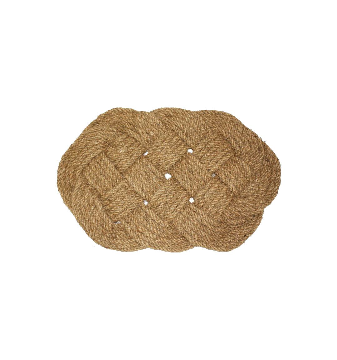 Oval Knot Woven Coco Doormat