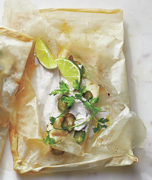 Jalapeño, Coconut, and Cilantro Fish Packets