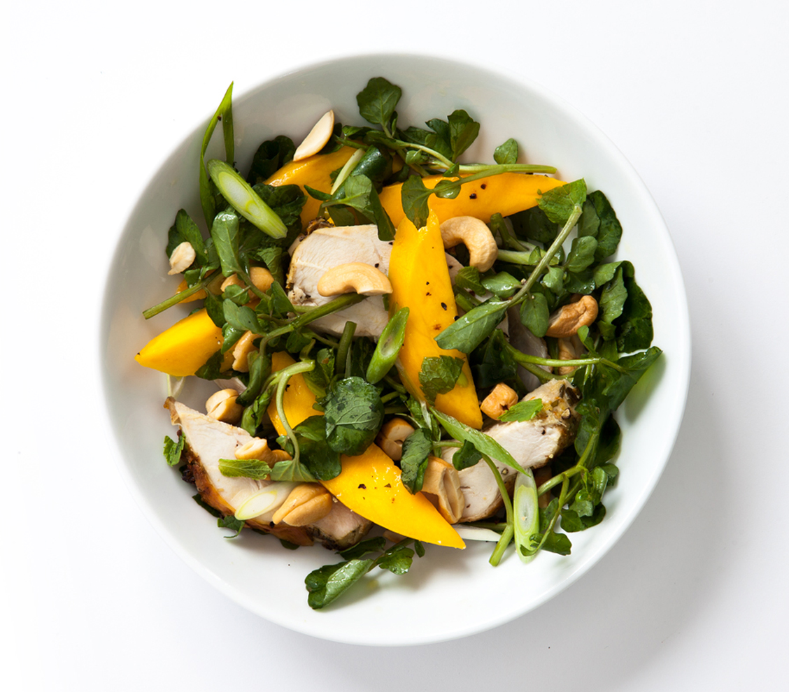 Chicken, Watercress, Mango, Scallion, and Mint Salad