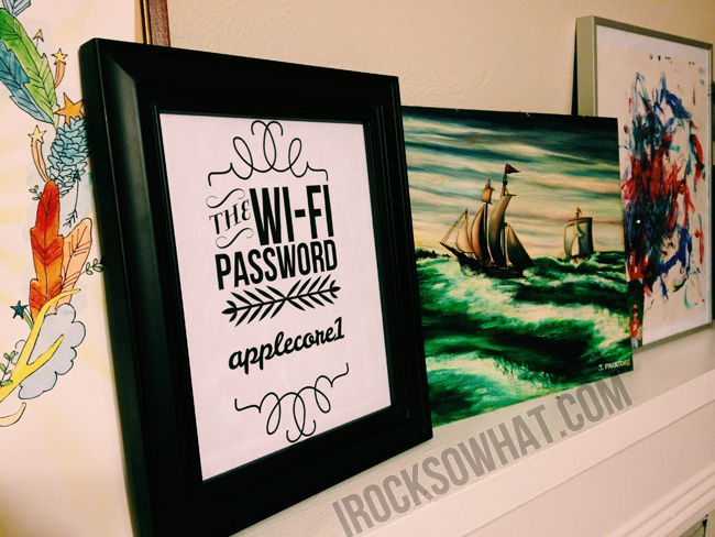 Wi-Fi password display