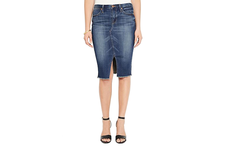 Lucky Brand Denim Slit Skirt