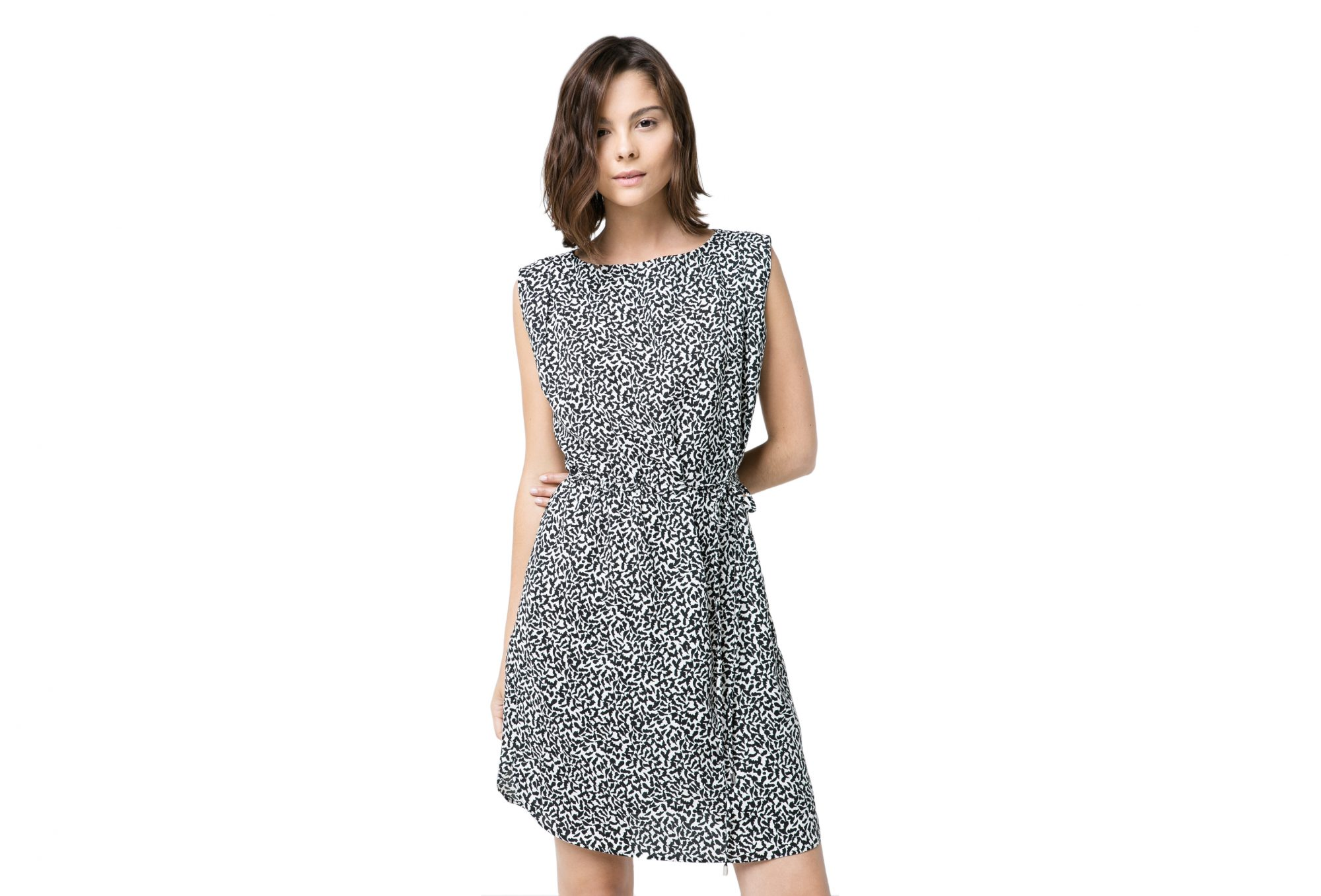 Mango Monochrome Print Dress