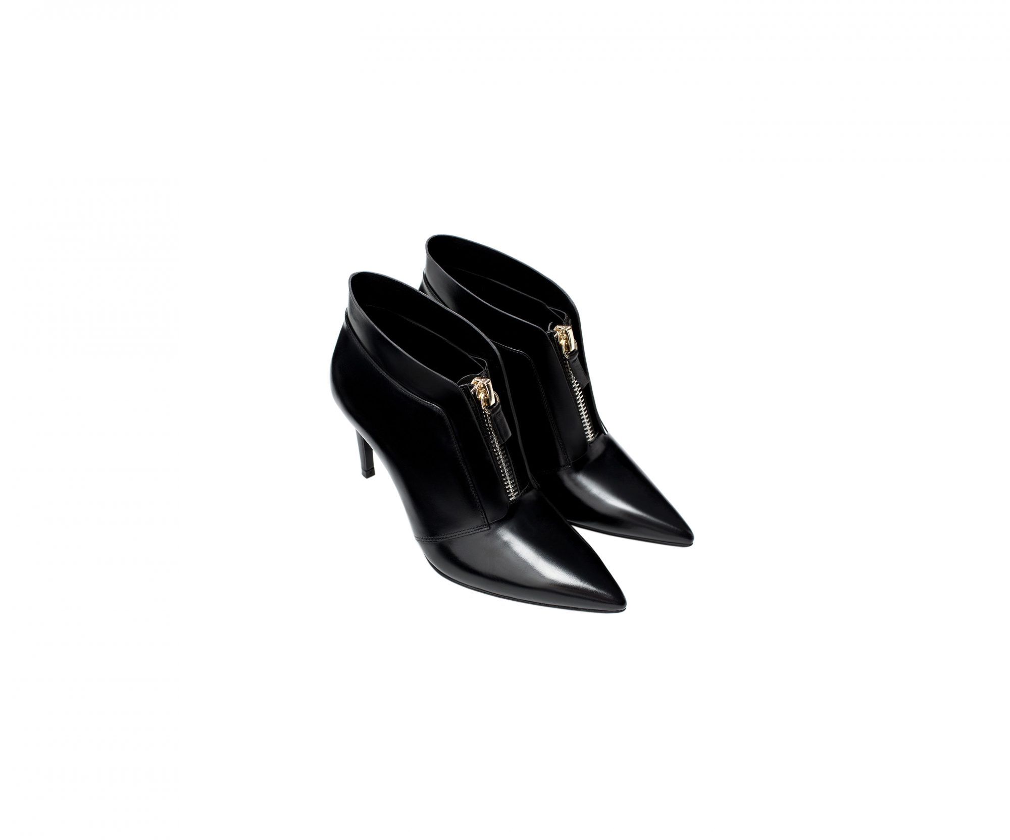 Zara Leather Ankle Boot with Zip