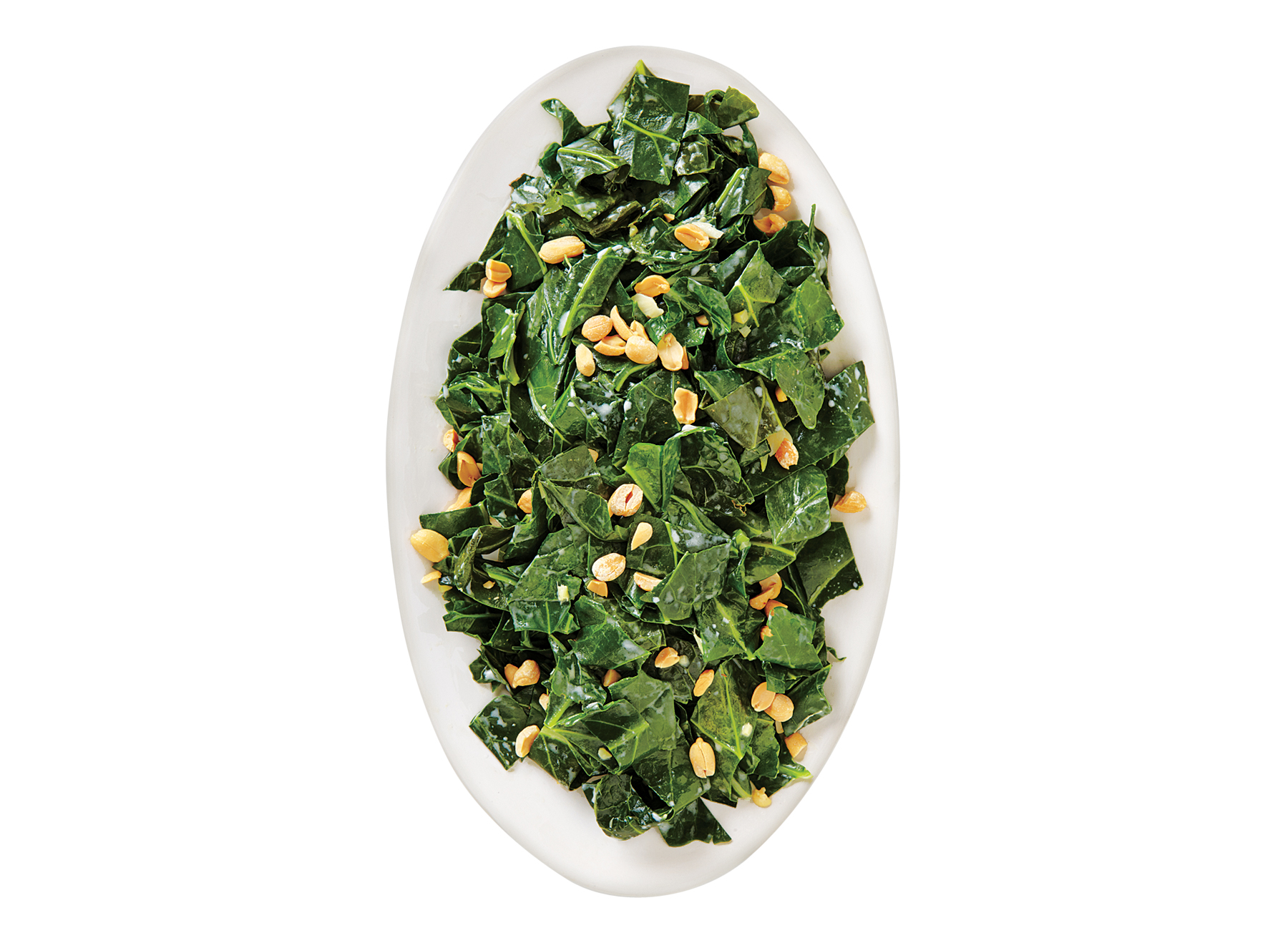 Collards with Coconut Milk and Peanuts