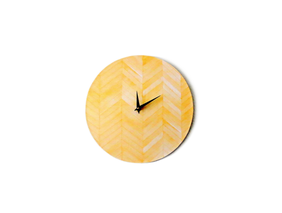 Yellow Chevron Clock