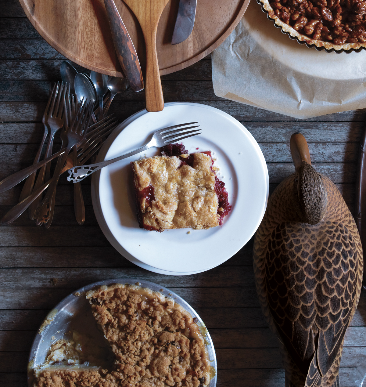 Sour Cherry and Cranberry Slab Pie