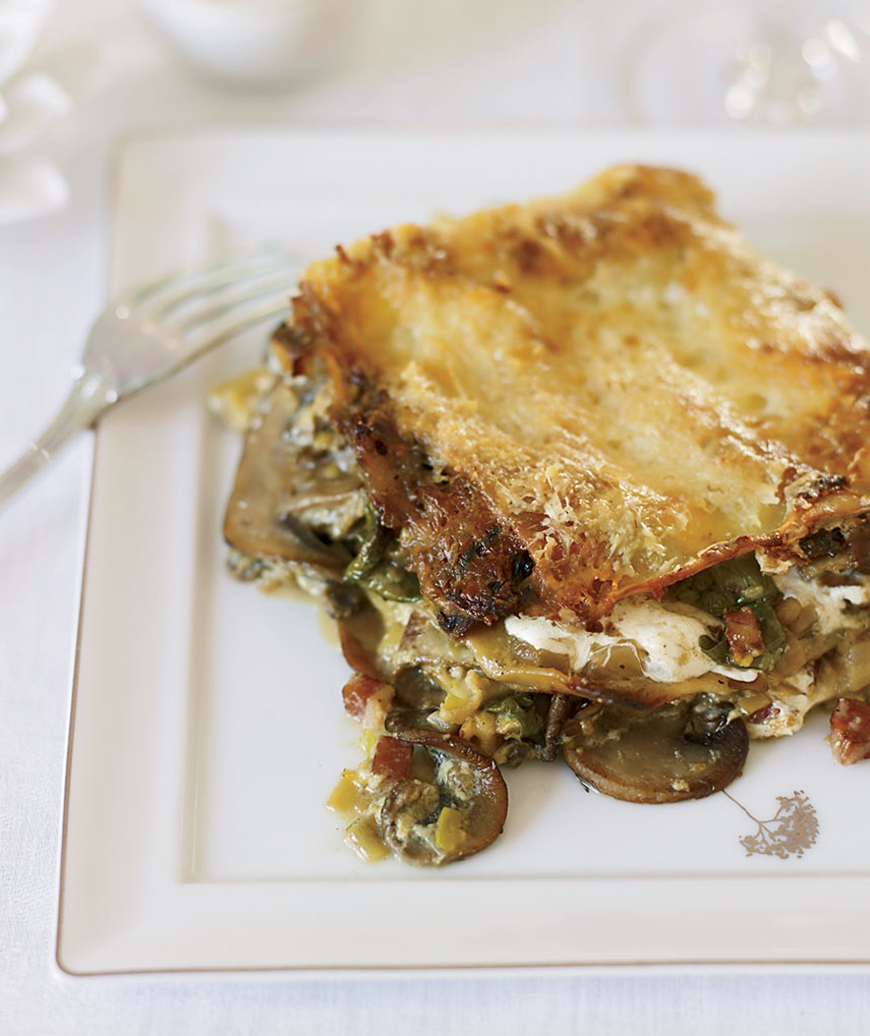 10 gourmet recipes and easy alternatives real simple celery root and mushroom lasagna fabio trabocchi forumfinder Gallery