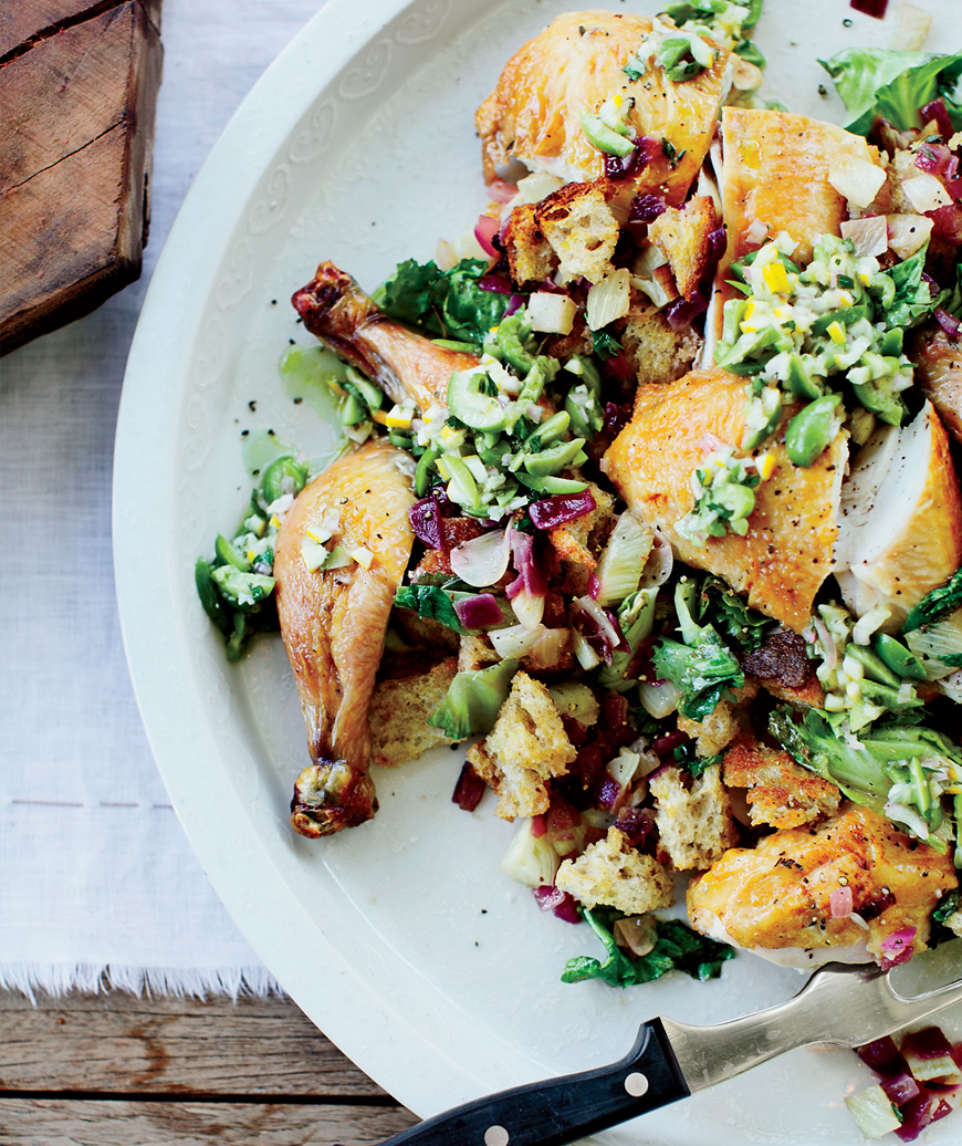 Ode to Zuni Roast Chicken with Fennel Panzanella, Suzanne Goin