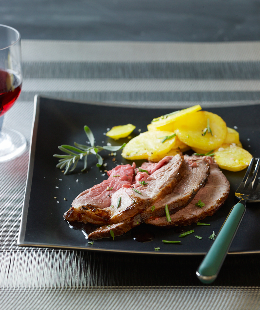 10 gourmet recipes and easy alternatives real simple salt baked leg of lamb with olive oil potatoes corey lee forumfinder Choice Image
