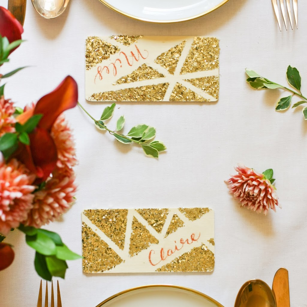 DIY Geo Chalkboard Place Cards