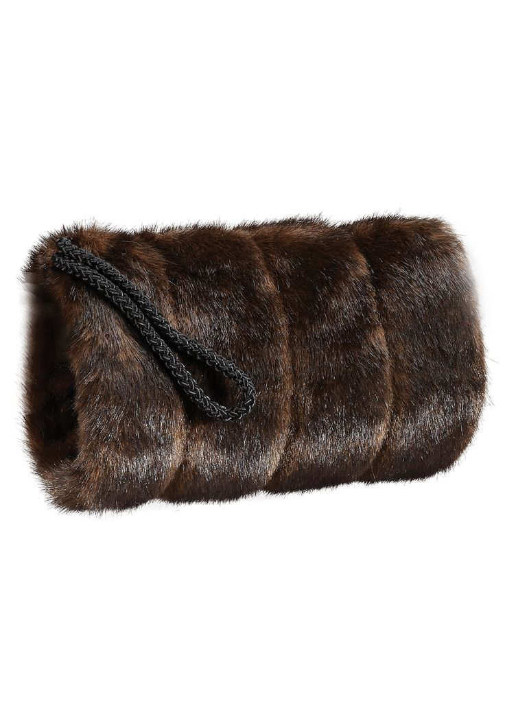 Fabulous Furs Sable Faux Fur Muff