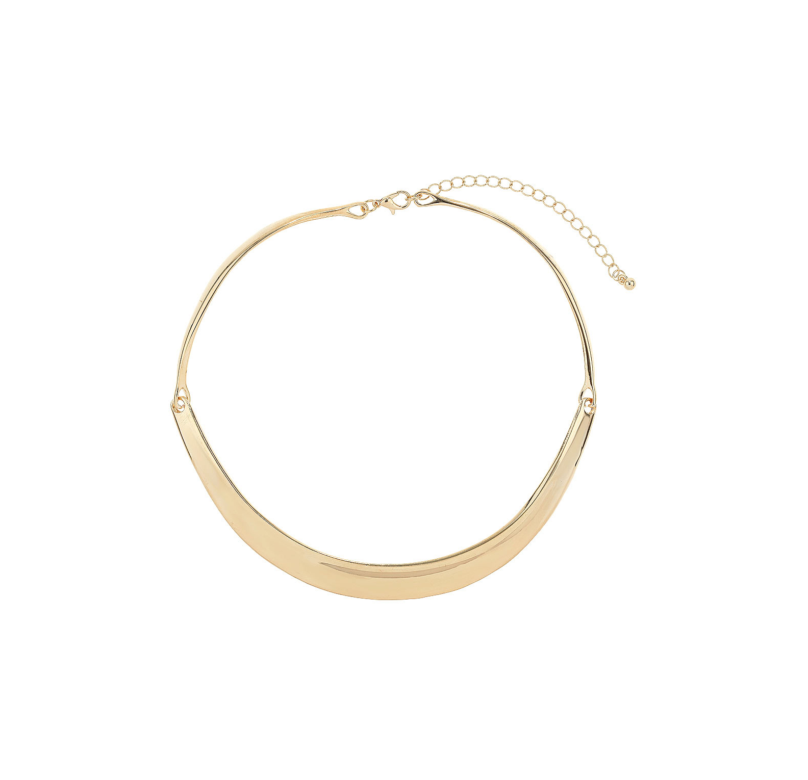 Wallis Fashion Gold Metal Torq Necklace