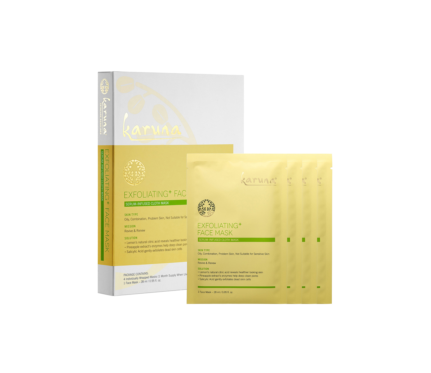 Karuna Exfoliating + Face Mask