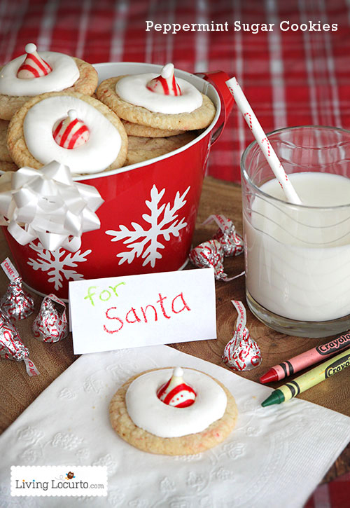 Santa Hat Peppermint Sugar Cookies