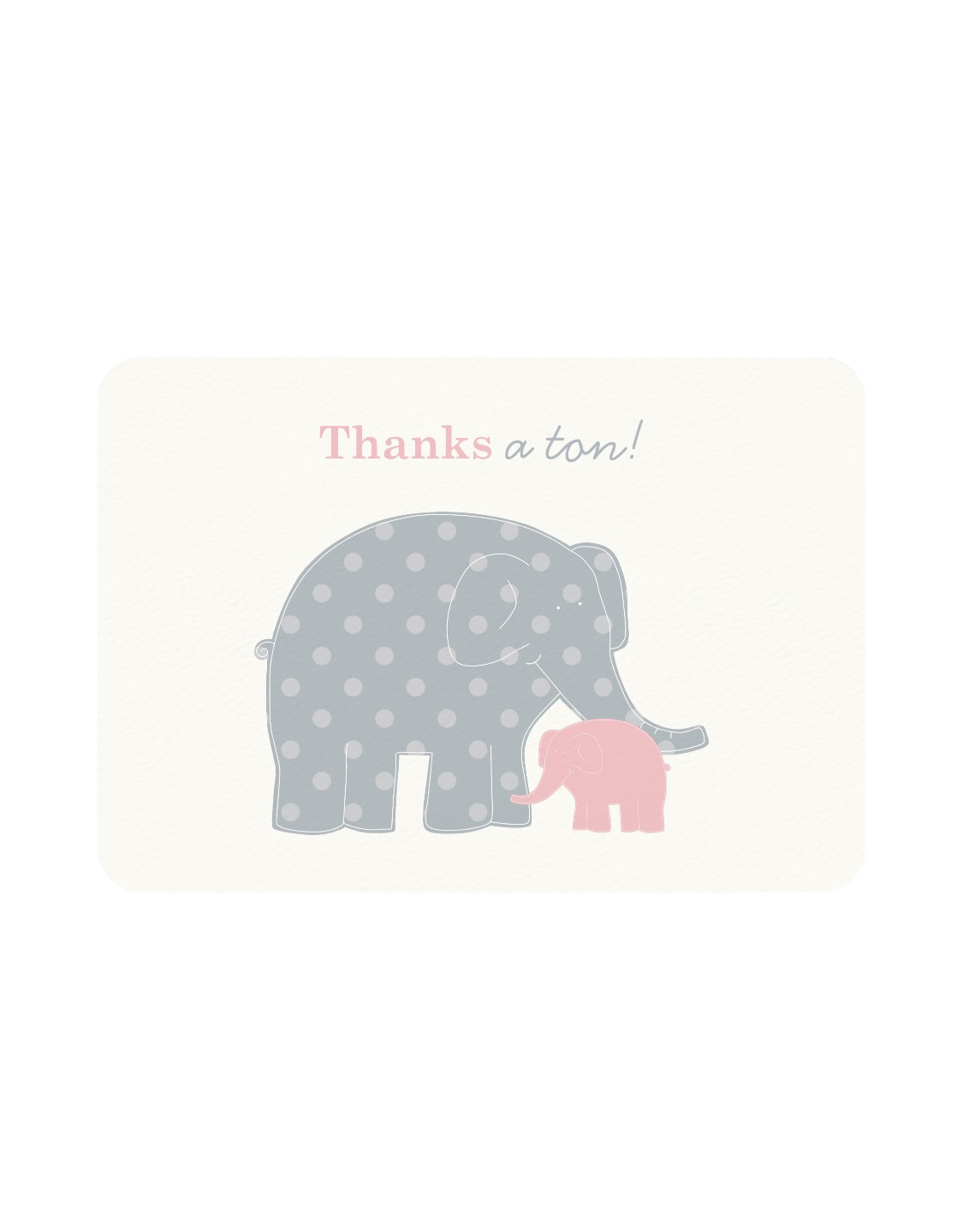 Elephant Thank You Flat Note Cards