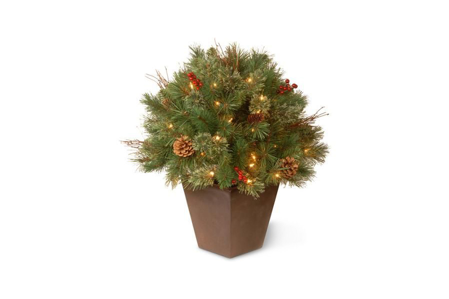 National Tree Pre-Lit Glistening Pine Porch Bush