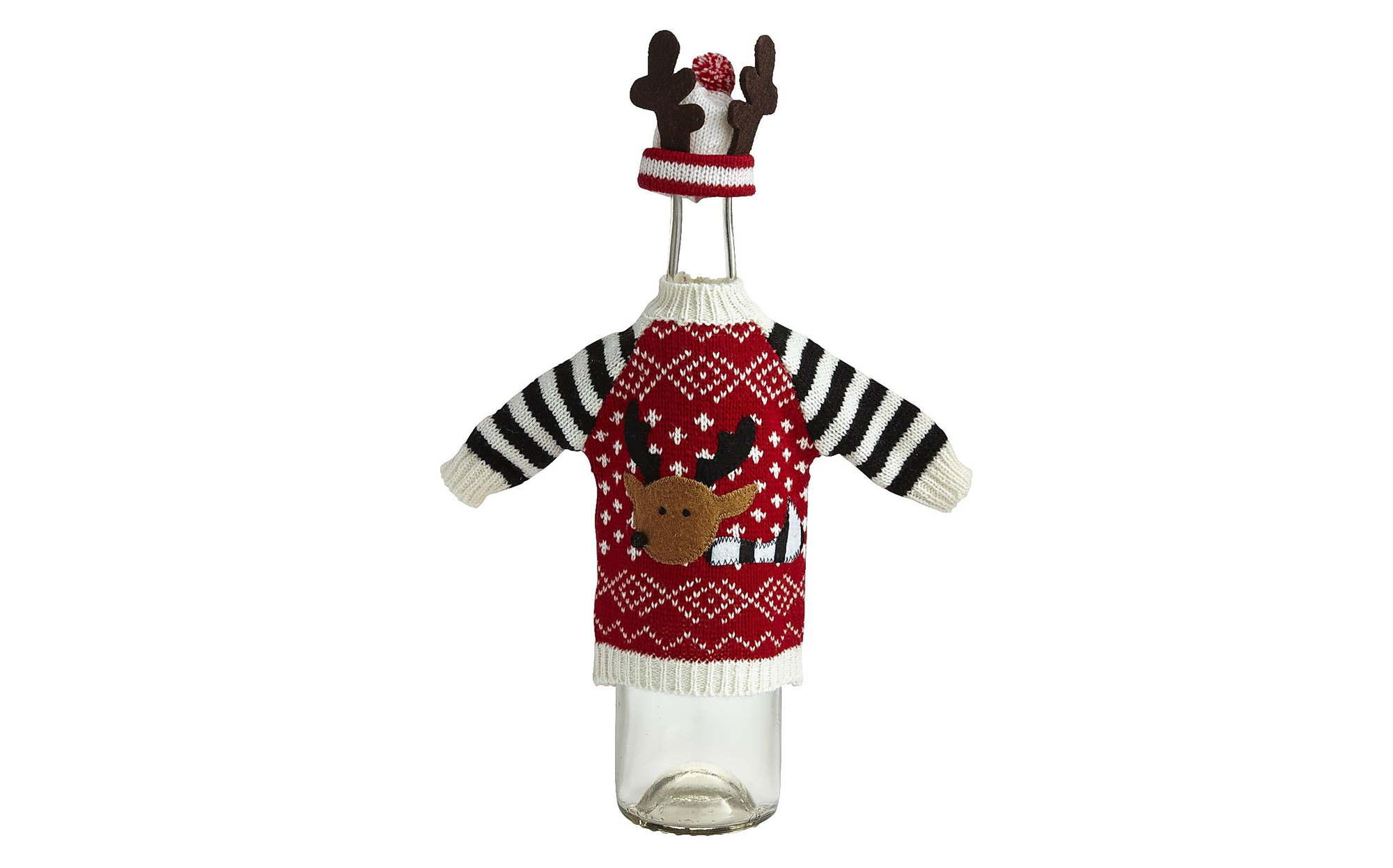 Reindeer Sweater Bottle Decor