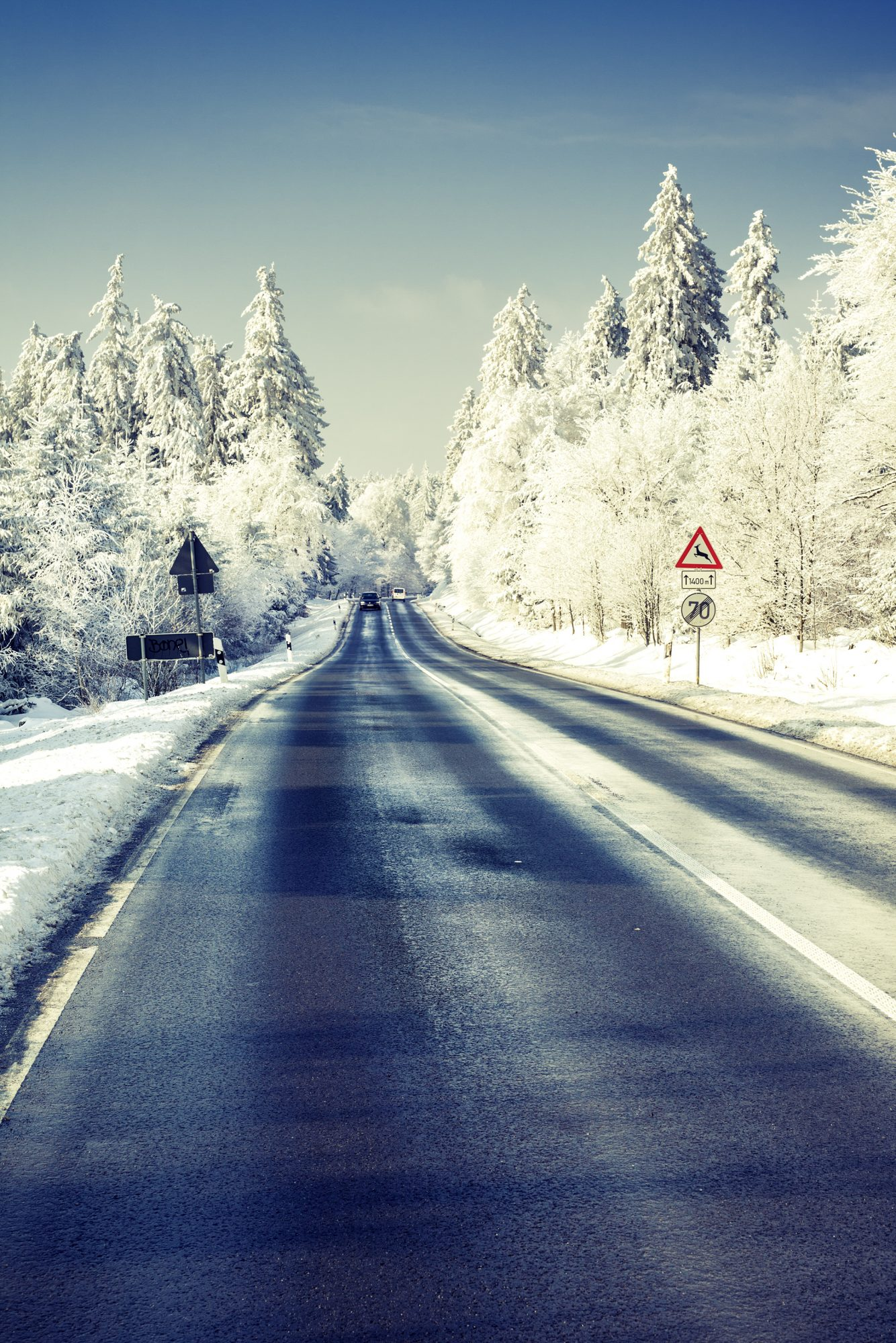 holiday travel essay real simple snowy road