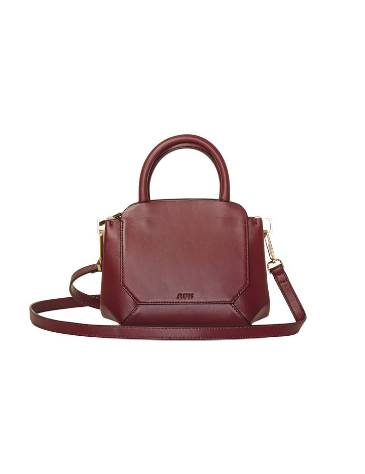 Aritzia Mini Bega Satchel Bag Wine