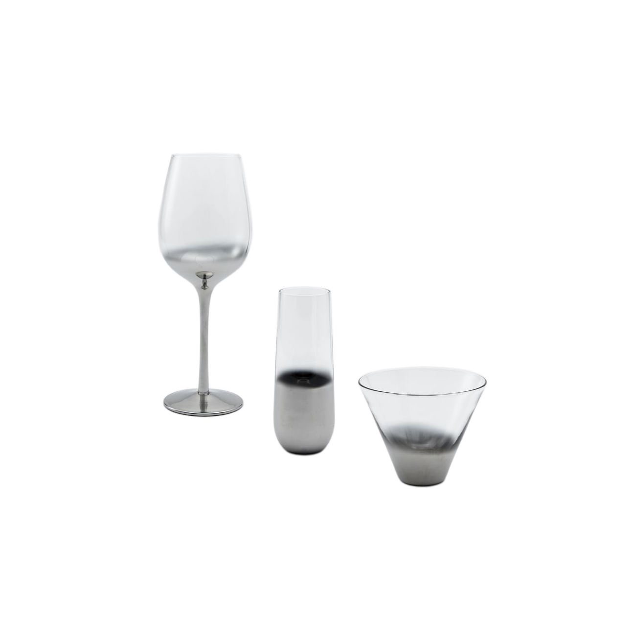 Metallic Ombre Glassware Set