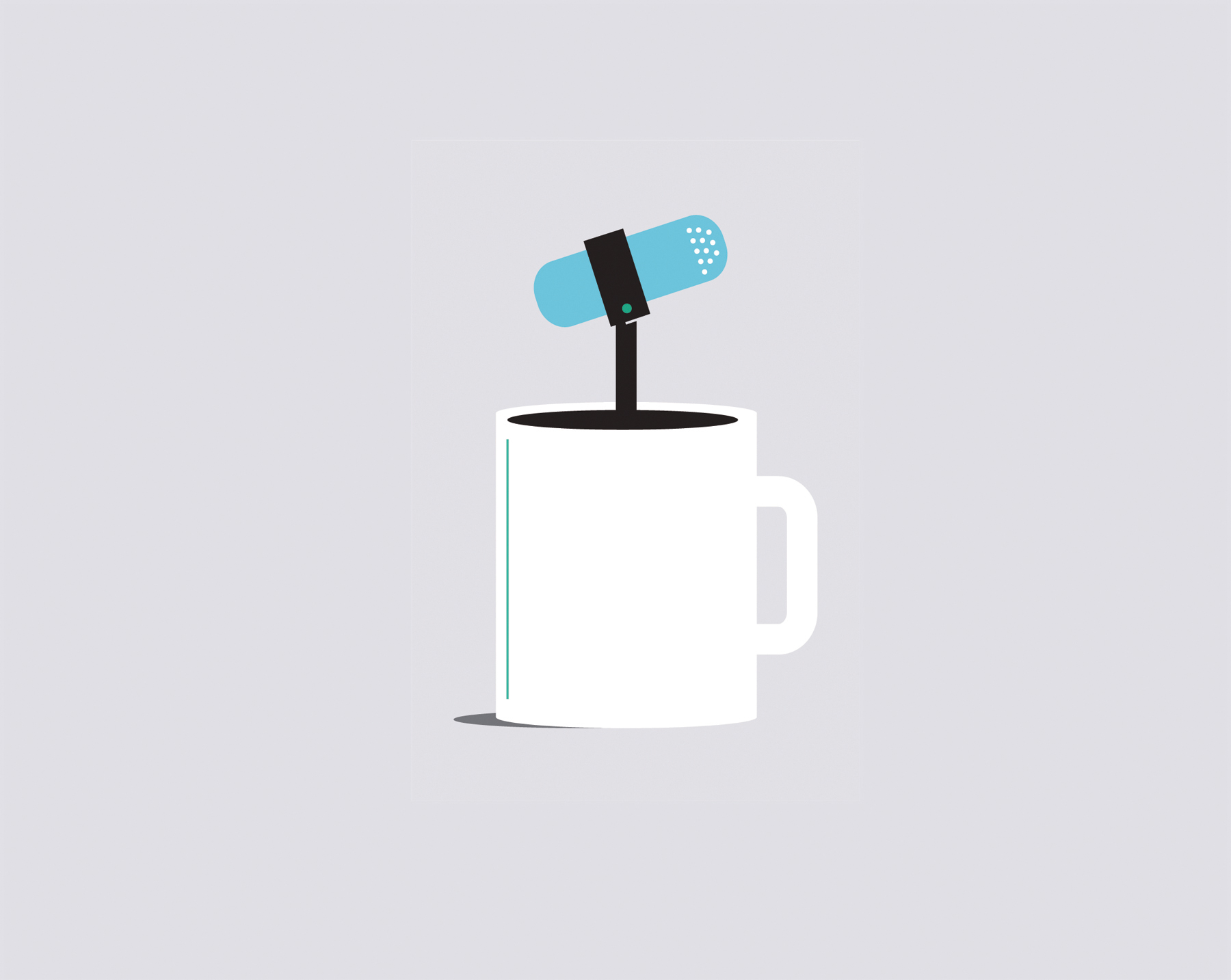 Illustration: Coffee with microphone