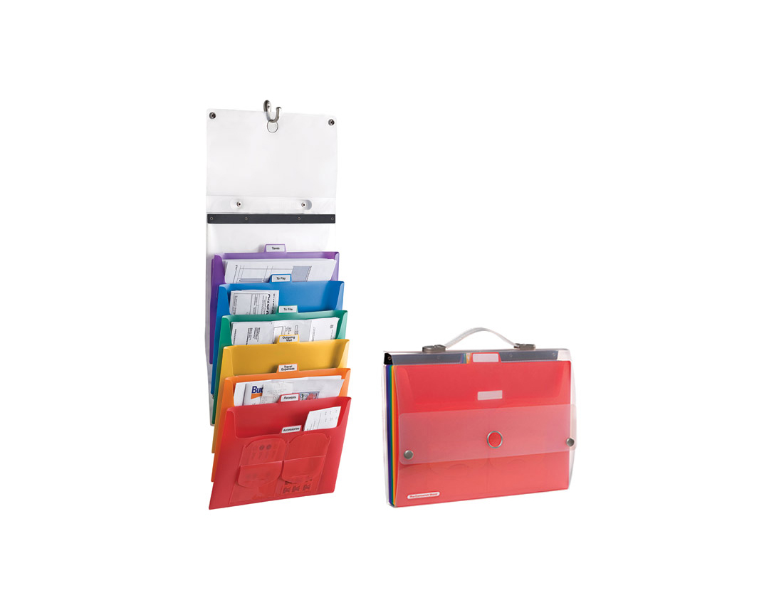 Rainbow Cascading Letter File Tote
