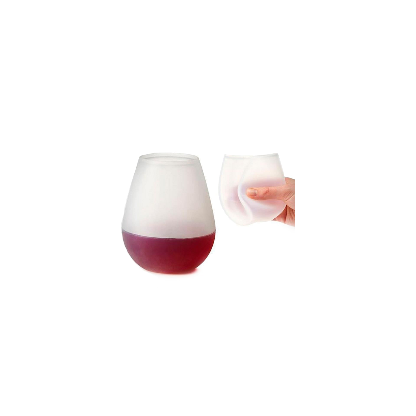 Spruce Silicone Wine Glass/ Cups, Set of 2