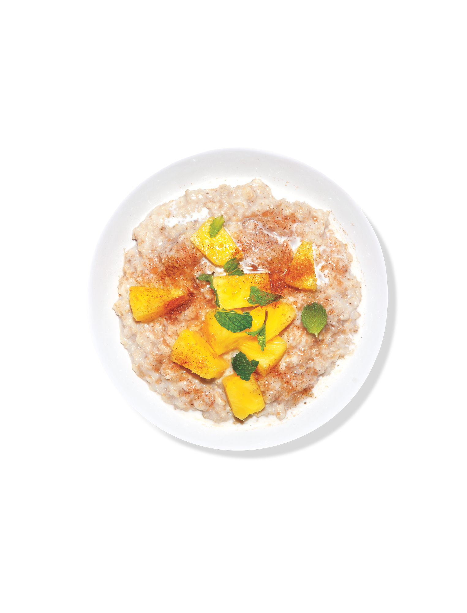 Oatmeal with Pineapple and Mint (new)