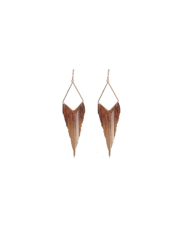 Jules Smith Coachella Earrings Rose Gold