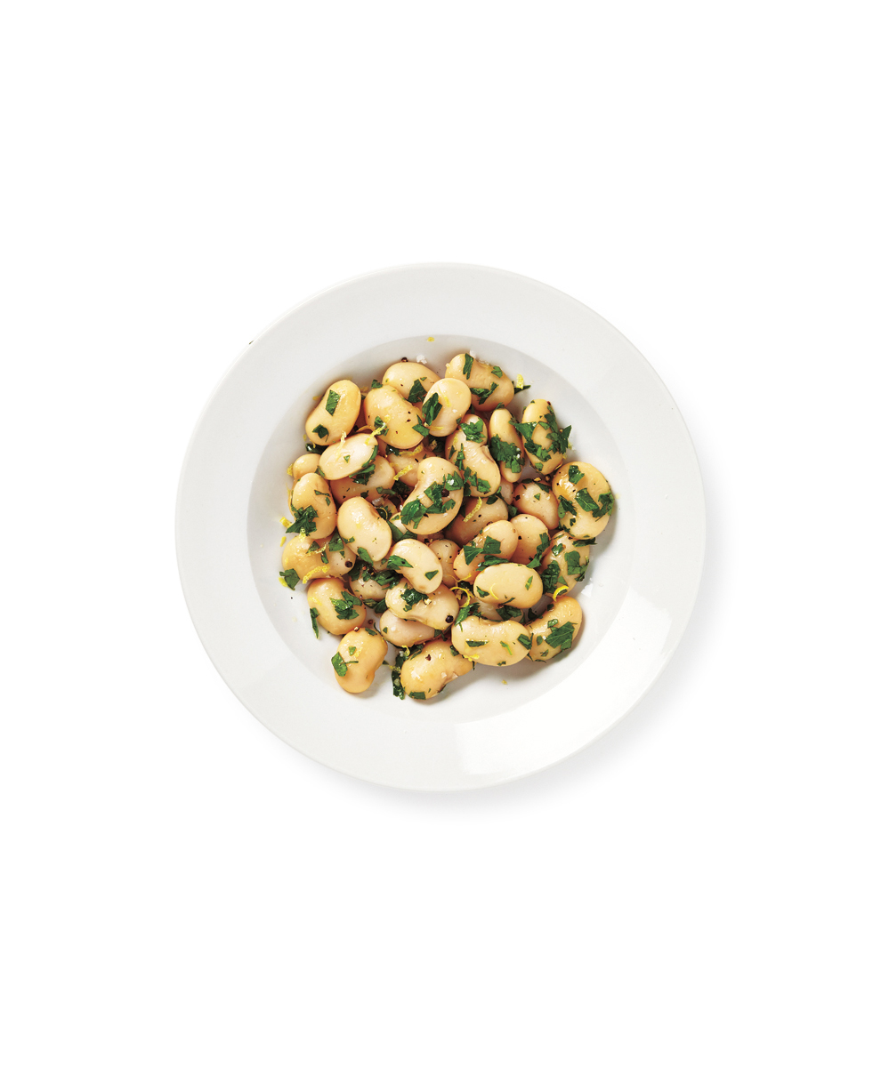Greek White beans with Parsley and Lemon