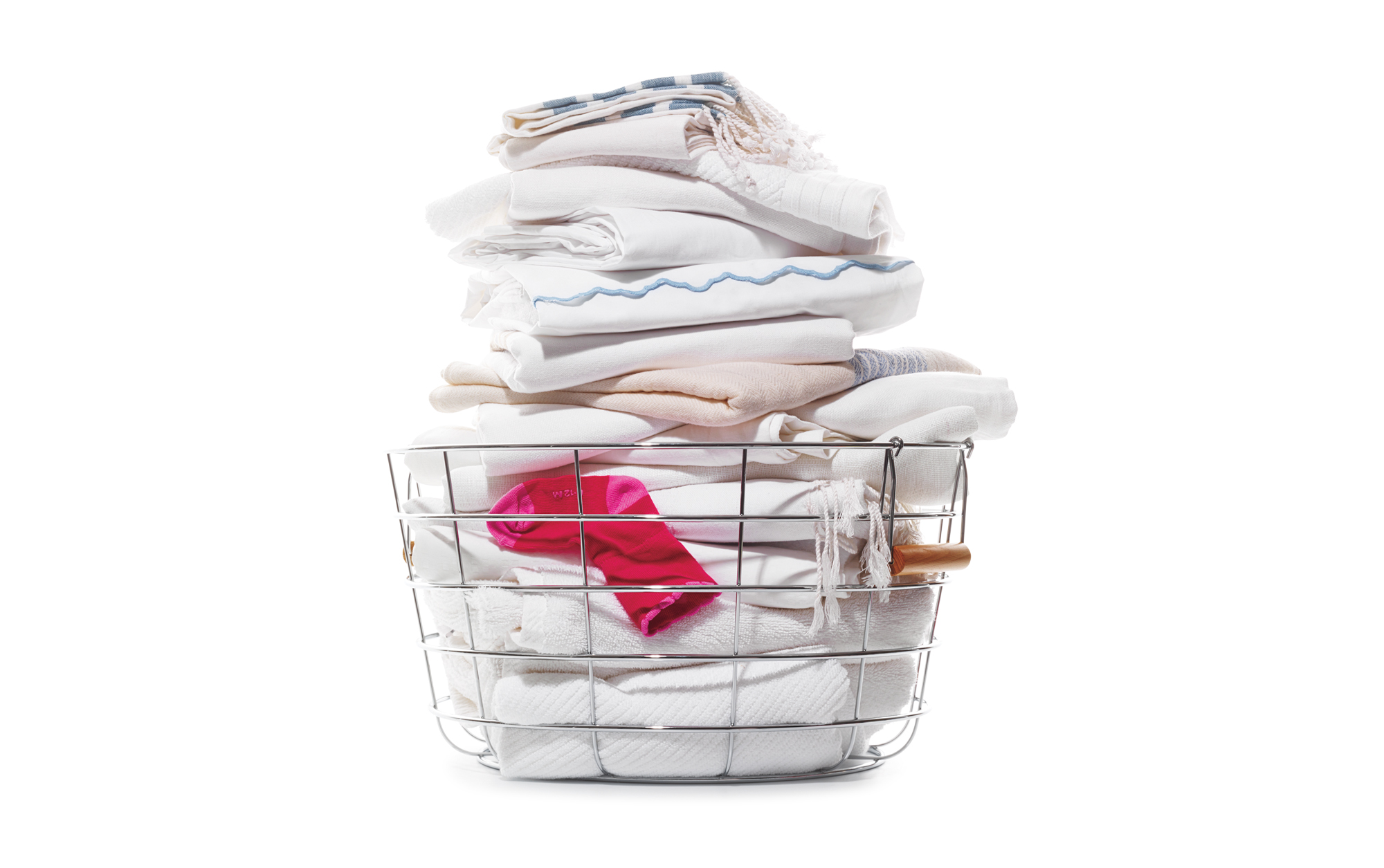 Basket full of folded laundry