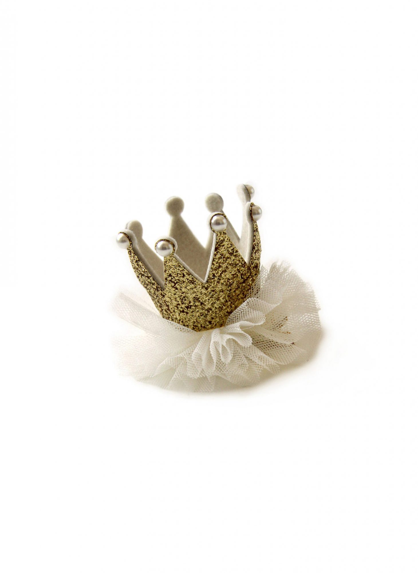Princess Crown Hair Clip - Gold