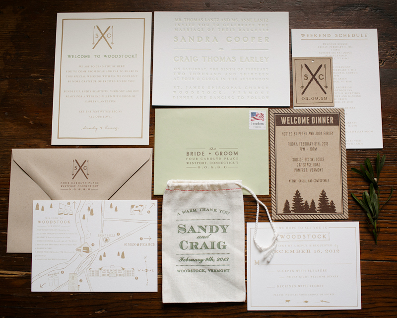 Wedding invitations, schedule, directions