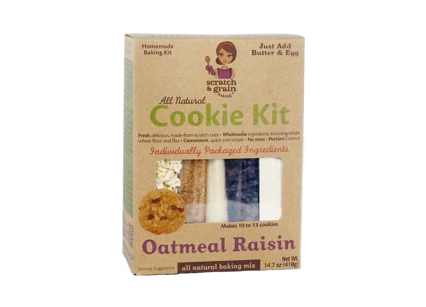 Scratch and Grain Oatmeal Raisin Cookie Kit