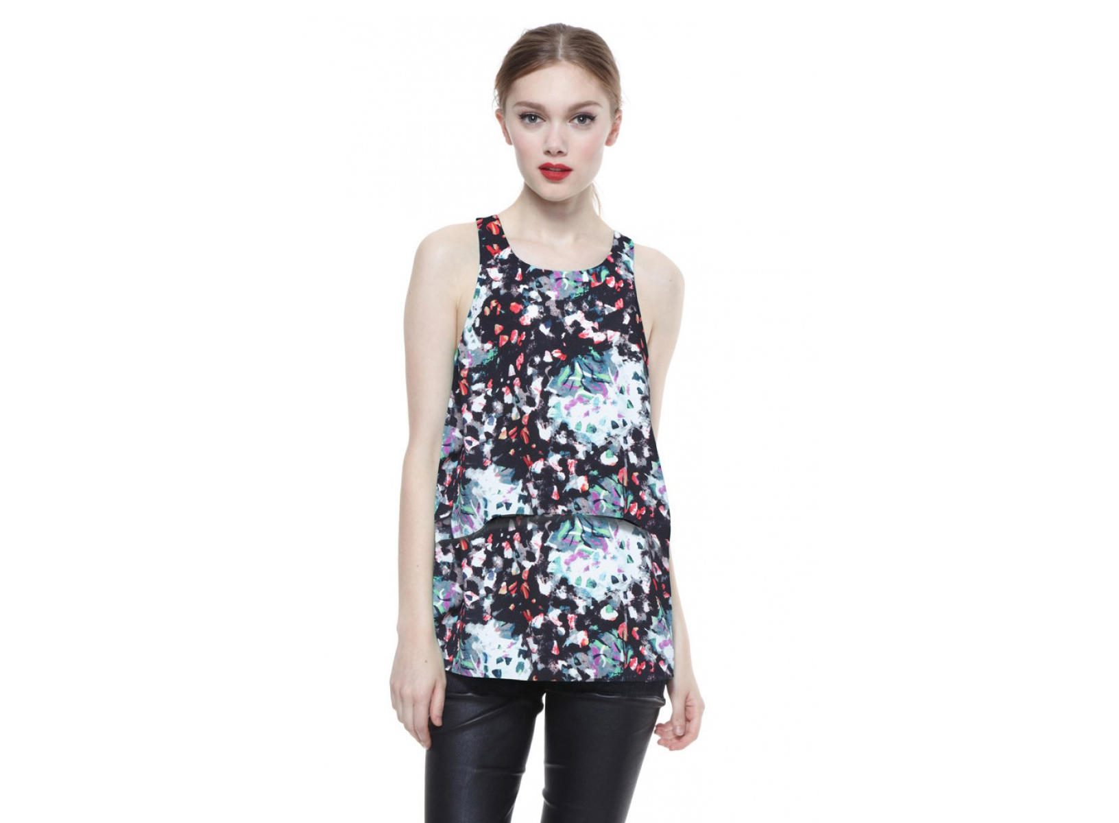Cooper & Ella Peyton Double Layer Tank Collage Print